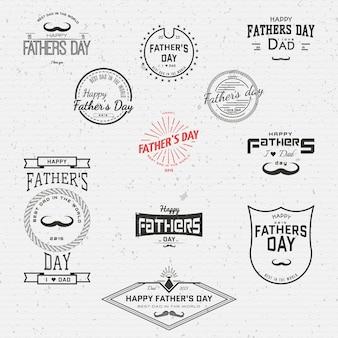 Dia dos pais emblemas logotipos e etiquetas para qualquer uso