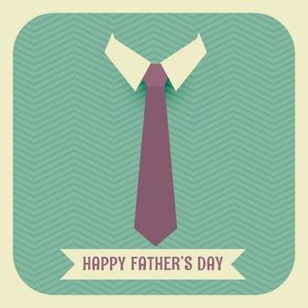 Dia dos pais feliz com gravata e colarinho