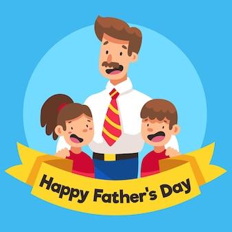 Dia dos pais ilustrado