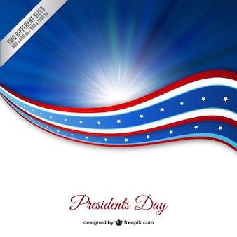 Dia dos presidentes fundo azul
