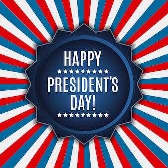 Dia dos presidentes no fundo dos eua. pode ser usado como banner ou poste