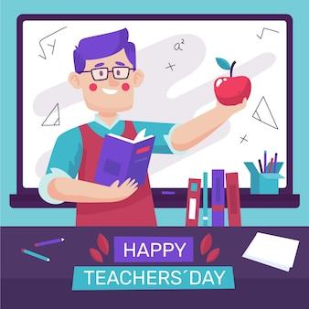 Dia dos professores desenhado à mão