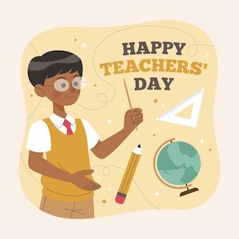 Dia dos professores desenhados à mão