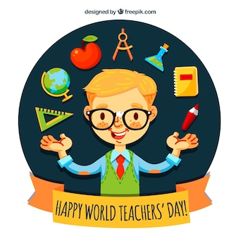 Dia dos professores, estudante exemplar