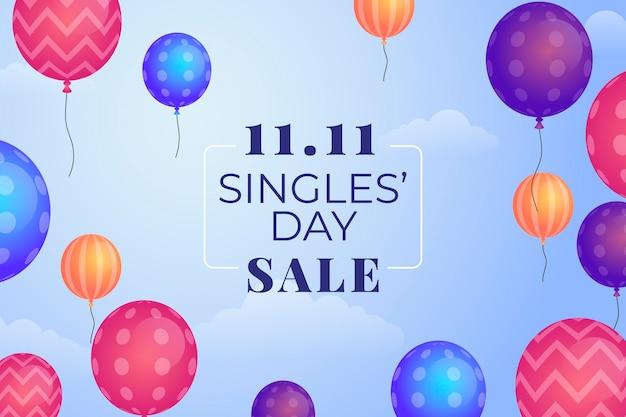Dia dos solteiros com balões realistas