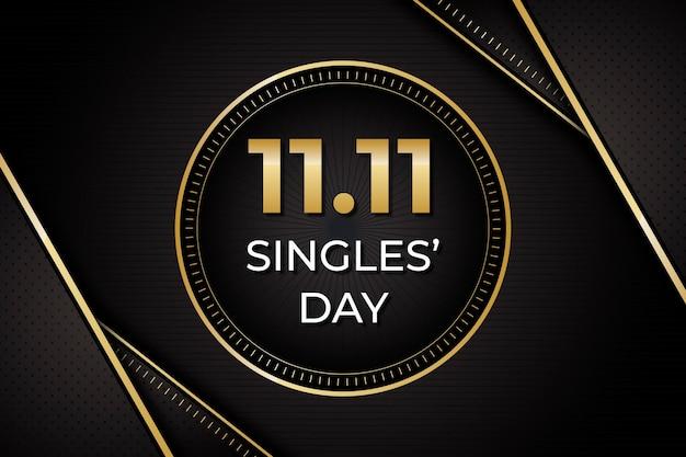 Dia dos solteiros preto e dourado