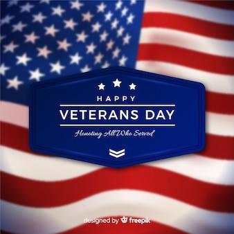 Dia dos veteranos com bandeira realista