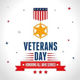 Dia dos veteranos de guerra dos estados unidos da américa