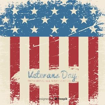 Dia dos veteranos de rotulação vintage