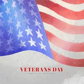 Dia dos veteranos em aquarela
