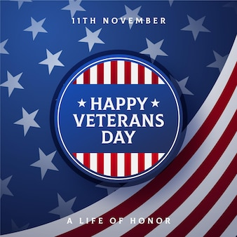 Dia dos veteranos em design plano
