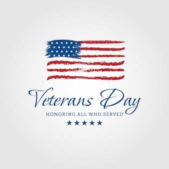 Dia dos veteranos. homenageando todos os que serviram, pôsteres, ilustração vetorial de design moderno