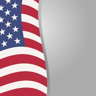 Dia dos veteranos. homenageando todos os que serviram. vetor de dia dos veteranos. ilustração do dia dos veteranos. bandeira dos eua em fundo. estrelas na bandeira. bandeira americana. bandeira da américa