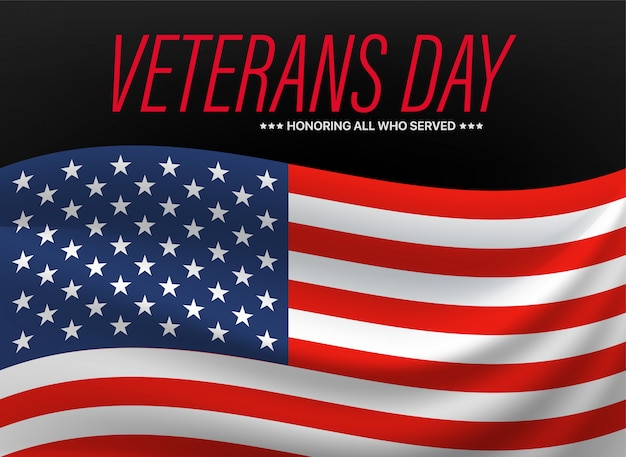Dia dos veteranos. homenageando todos os que serviram.