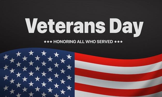 Dia dos veteranos. homenageando todos os que serviram