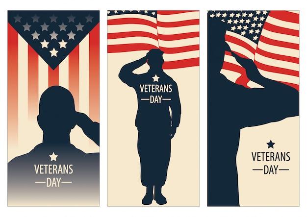 Dia dos veteranos, memorial day, vetor de patriota para banner, folheto, anúncio impresso, adesivo