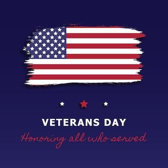 Dia dos veteranos modelo de design de banner feriado nacional dos eua