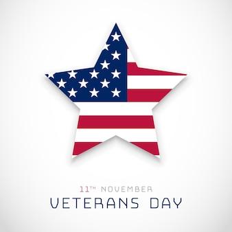 Dia dos veteranos, plano de fundo 11 de novembro com a bandeira dos eua