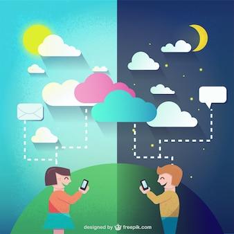 Dia e noite conversando