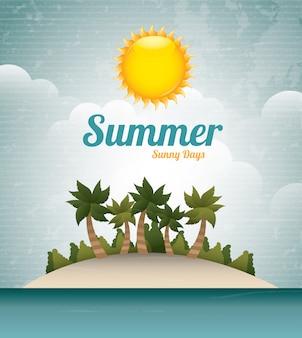 Dia ensolarado de verão