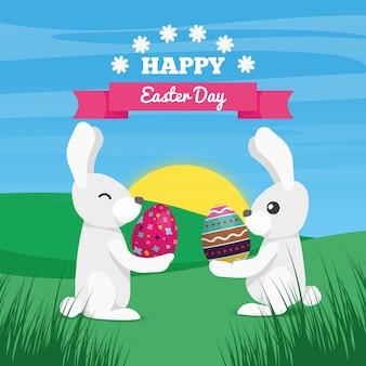 Dia feliz da páscoa, bakground