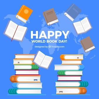 Dia feliz do livro mundial feliz