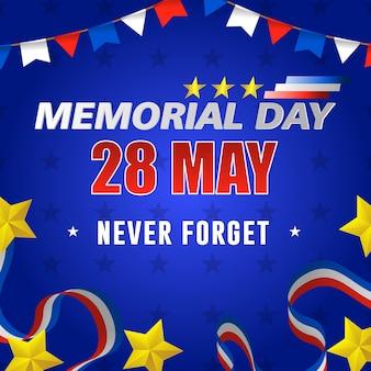 Dia feliz do memorial dos eua, 28 de maio.