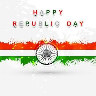Dia feliz república cartão bandeira indiana