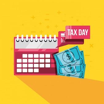 Dia fiscal com calendário