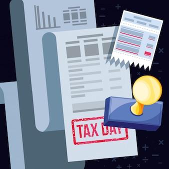 Dia fiscal com voucher e conjunto