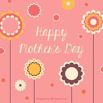 Dia flor cartão de impressão da mãe