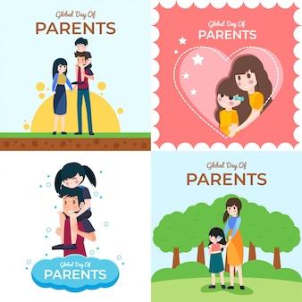 Dia global de ilustração dos pais