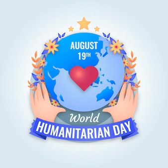 Dia humanitário do mundo plano