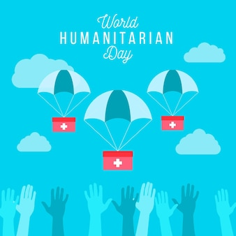 Dia humanitário do mundo plano