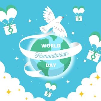 Dia humanitário mundial de mão desenhada