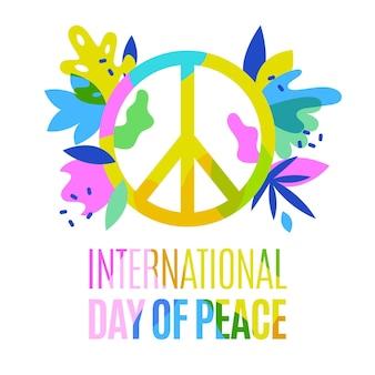 Dia internacional colorido da paz