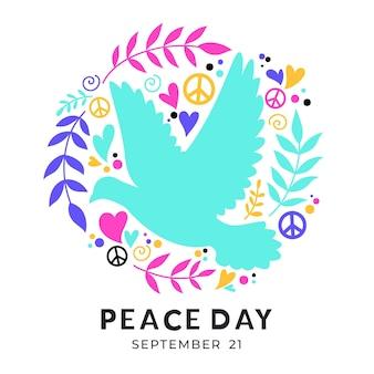 Dia internacional colorido do tema da paz