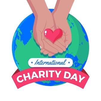 Dia internacional da caridade de design plano