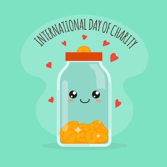 Dia internacional da caridade em design plano