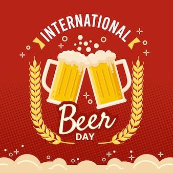 Dia internacional da cerveja com caneca