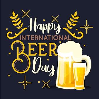 Dia internacional da cerveja com cerveja