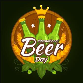 Dia internacional da cerveja com garrafas