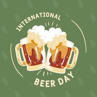 Dia internacional da cerveja com pintas