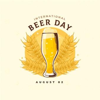 Dia internacional da cerveja com vidro