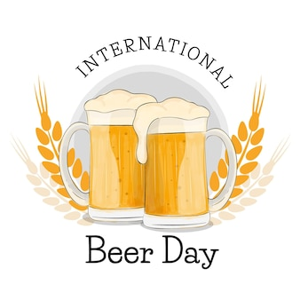 Dia internacional da cerveja de bebidas refrescantes