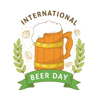 Dia internacional da cerveja desenhado