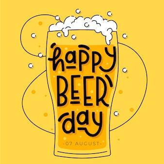Dia internacional da cerveja letras estilo