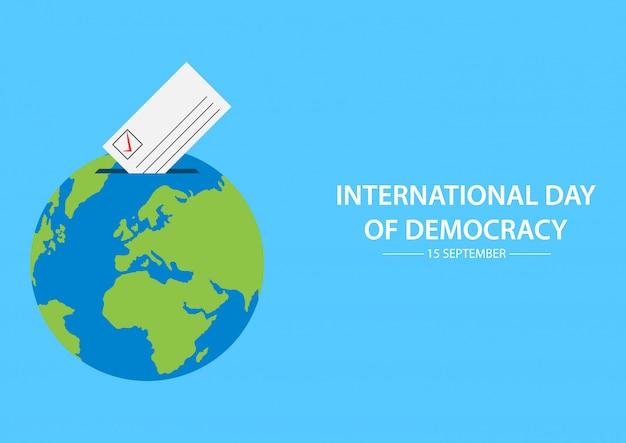 Dia internacional da democracia.