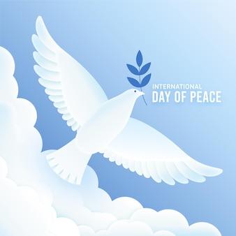 Dia internacional da design plano da ilustração da paz