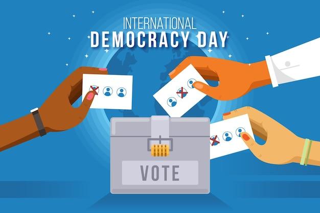 Dia internacional da ilustração da democracia